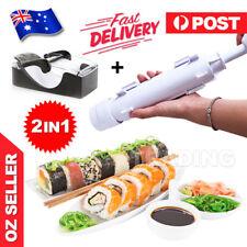 2 in 1 Sushi Roll Maker Making Kit Mold Sushi Rice Roller Mould Kitchen DIY AU