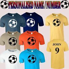 Personalised Mens Kids Name Number T shirt Football Sports League Custom T-Shirt