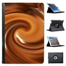 Warm Melted Hot Chocolate Swirls Folio Leather Case For iPad Mini & Retina