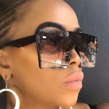 Surdimensionné carré lunettes de soleil femmes 2019 marque de luxe mode plat
