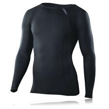 2Xu Compression Running T-shirt Maillot Manche Longue Top Haut Sport Hommes Noir