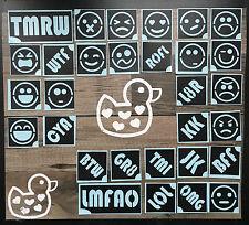 Glitter Tattoo Kit Text Message Emoji Smiley Glue Fundraiser Airbrush Facepaint