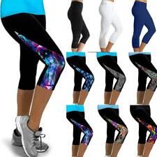 Reebok Womens One Series Tree Fitted Capri 3//4 Gym Tight Pants Leggings Bottoms
