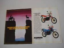 advertising Pubblicità 1987 MOTO MORINI KANGURO/CAMEL