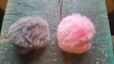 Pompom Puschel Bommel rosa grau flauschig weich basteln