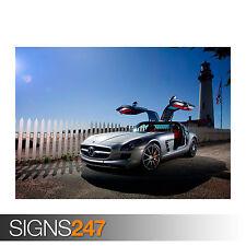 MERCEDES BENZ SLS AMG (0541) Car Poster - Photo Poster Print Art A0 A1 A2 A3 A4