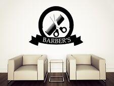 Vinyl Wall Sticker Barber Shop Decor Haircuts for men (n678)