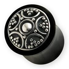 Horn Flesh Plug Azteken Silber ohr piercing silver maya organic ear tunnel tube