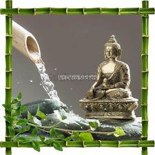 Sticker autocollant Cadre bambou Bouddha et galets Zen7166