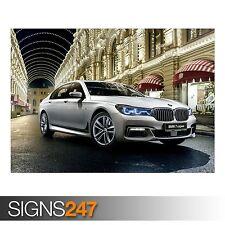 2017 BMW M7 7 SERIES XDRIVE (9010) Car Poster - Poster Print Art A0 A1 A2 A3 A4