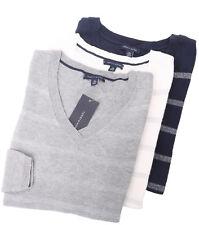 Tommy Hilfiger Women's Long Sleeve Pullover V-Neck Stripe Sweater - Free $0 Ship