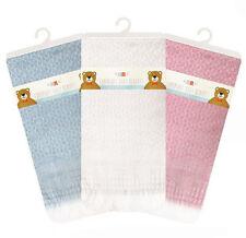 Little Stars Super Soft Fringed Baby Blanket 112cm x 112cm (Blue/Pink/White)