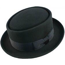 pliable Heisenberg porc chapeau mou 100% Laine feutre noir