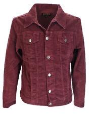 Para Hombre 60s Retro De colección chaqueta de Cable Western Camionero Borgoña..