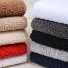 Sherpa Fleece Lining Fabric Lambskin Thermal Lined Material Sold Per Half Metre
