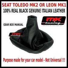 SEAT TOLEDO LEON MK2 o MK1 1999-05 di Alta Qualità Leva Del Cambio Copertura Ghetta in Pelle