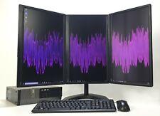 Modern Office PC Computer bundle Desktop Triple Monitor i5  Win 10 Wifi Warranty
