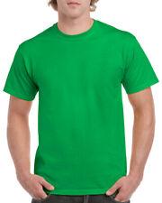 Gildan Green Heavy Cotton T Shirt Herren Plain T-Shirt: S M XL XXL