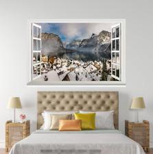 3D Snow White House 25 ventanas abiertas impresión de pared de papel pintado wandbilder AJ Jenny