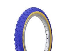 "1 BICYCLE TIRE 16""x2.125"" Blue /Gum Comp 3 Design DURO BMX JOGGER Bike Scooter"