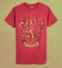 New Harry Potter Gryffindor Crest Mens Rustic Vintage T-Shirt