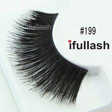 #199  6 or 12 pairs of ifullash 100% human hair Eyelashes- BLACK