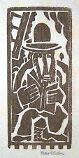 "MAX WEBER Signed 1919-20 Original Woodcut - ""Rabbi Reading (Pensioned)"""