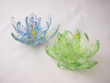 Art glass flower Candle Holder Home decora blue green Multi-Coloured 12cm*8cm
