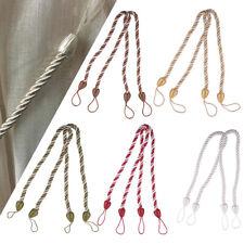 64cm Satin Curtain Window Drape Cord Tie Simple Braided Rope Back Hold Tieback