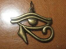 GOLD TONE EGYPTIAN EGYPT EYE OF HORUS RA PENDANT CHARM NECKLACE 30MM