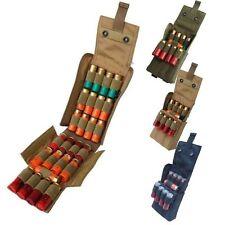 Hunting Molle 25 Round 12GA Gauge Rifle Shotgun Shell Ammo Bag Magzine Pouch Tan