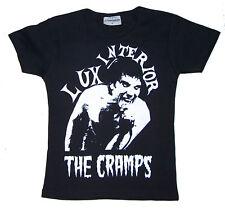 Nero Lux Interior CRAMPS T-shirt girocollo psychobilly S - 2XL GILDAN Ladies Aderente T