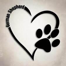 German Shepherd Dog Love Decal Paw Heart Sticker Car Laptop Puppy Animal Rescue