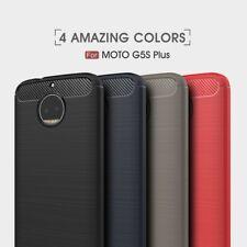 Housse etui coque silicone gel carbone Motorola Moto G5s Plus + verre trempe
