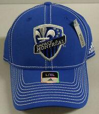 NWT MLS Montreal Impact Adidas Climalite Curve Brim Cap Hat NEW!