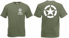 T-Shirt Us Army Allied Star Lei Nome / Marca Marines Usmc Guarnizioni Vietnam