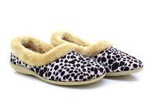 Dunlop Ladies PENNY Fur Collar Leopard Full Slippers