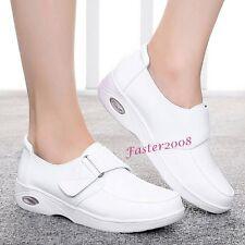 Womens Flats Leather Skidproof Nursing Shoes Hospital Nurse Footware Work Shoes