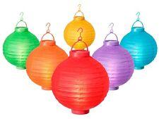 Lampion à LED boule japonaise en papier Décoration lumineuse à suspendre Ø 20 cm