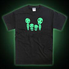 Kodama Family Mononoke Ghibli Anime Glow in the dark Unisex Tshirt T-Shirt Tee