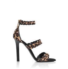 Tamara Mellon Leopard Sundance Sandals 105MM Heels $995 NEW