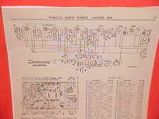 1934 PHILCO AUTO RADIO SERVICE SHOP REPAIR MANUAL MODELS 800/800 CODE 122
