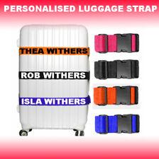 Personalised Luggage Strap Suitcase Printed Safe Luggage Belt 5cm wide