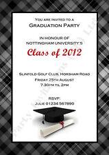 Personalised GRADUATION Invites - Grad Party Invitations