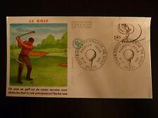 FRANCE PREMIER JOUR FDC YVERT 2105 JOUEUR DE GOLF   1,40F  PARIS 1980
