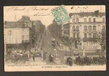 """LE MANS (72) ATTELAGE & TRAMWAY """"BOINE"""" à HOTEL DE L'EMBARCADERE en 1903"""