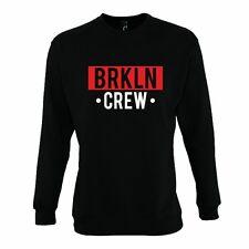 Felpa Divertente BRKLN CREW Sweatshirt rock Hoodie Urban swag street style VIP