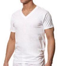 Players  Jumbo Man's V-Neck WHITE T-Shirt 2-Pack Cotton XL-10XL