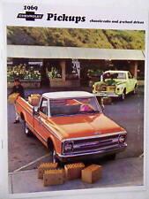 1969 69 Chevy Chevrolet pickup truck sales brochure