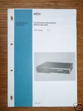 Service Manual für Braun T 1 Tuner,ORIGINAL
